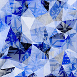 Fondo poligonal del extracto del vector del mosaico Fotos de archivo libres de regalías