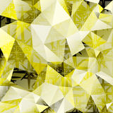 Fondo poligonal del extracto del vector del mosaico Foto de archivo