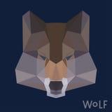 Fondo poligonal del lobo Fotografía de archivo libre de regalías