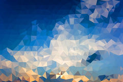 Fondo poligonal del mosaico Imagenes de archivo