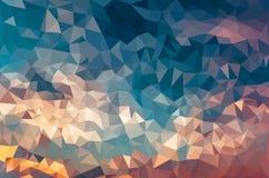 Fondo poligonal del mosaico Imágenes de archivo libres de regalías