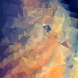 Fondo poligonal del triángulo abstracto Imagen de archivo libre de regalías