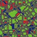 Fondo poligonal geométrico de la tecnología abstracta inconsútil del modelo para su diseño Imagen de archivo libre de regalías