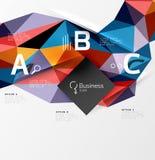 Fondo poligonal polivinílico bajo del extracto del triángulo Fotografía de archivo