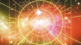Fondo poligonal retro abstracto del vuelo del túnel del laser almacen de metraje de vídeo