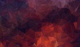Fondo poligonal rojo oscuro horizontal Foto de archivo