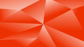 Fondo poligonal rojo simple del gráfico de vector Fotos de archivo libres de regalías