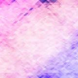 Fondo poligonal violeta del mosaico Imagen de archivo