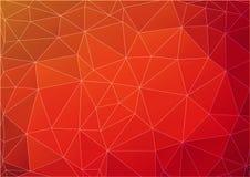 Fondo poligonale astratto arancione scuro Fotografia Stock Libera da Diritti