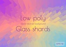 Fondo poligonale astratto che sparge i cocci di multi vetro colorato I triangoli geometrici hanno strutturato il vettore royalty illustrazione gratis