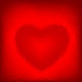 Fondo poligonale astratto con cuore a forma di. Immagine Stock