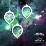 Fondo poligonale astratto di Buon Natale Fotografia Stock