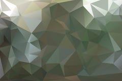 Fondo poligonale astratto di colore verde Fotografia Stock