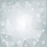 Fondo poligonale astratto di Natale Immagine Stock