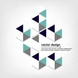 Fondo poligonale astratto geometrico Fotografie Stock