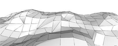 Fondo poligonale basso della montagna astratta di grey 3d Immagine Stock