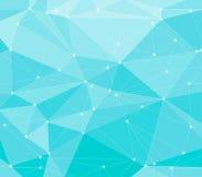 Fondo poligonale blu astratto illustrazione di stock