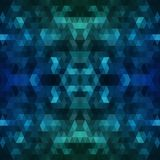 Fondo poligonale blu scuro Illustrazione astratta variopinta con la pendenza Il modello strutturato può essere usato per Immagini Stock Libere da Diritti