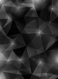 Fondo poligonale dell'estratto del nero scuro Fotografia Stock Libera da Diritti