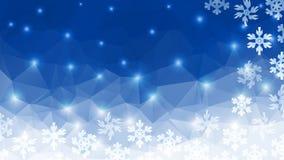 Fondo poligonale di inverno Immagini Stock