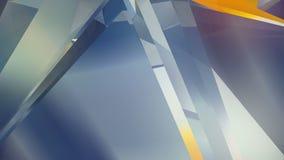 Fondo poligonale geometrico astratto di moto Video animazione avvolta corporativa rappresentazione 3d 4K, ultra risoluzione di HD illustrazione di stock