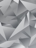 Fondo poligonale geometrico di Gray Abstract Immagine Stock