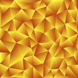 Fondo poligonale giallo luminoso Fotografia Stock Libera da Diritti