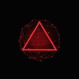 Fondo poligonale misto rosso di vettore astratto Fotografia Stock