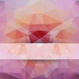 Fondo poligonale per progettazione Fotografia Stock Libera da Diritti