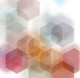 Fondo poligonale strutturato astratto multicolore leggero Progettazione confusa del triangolo di vettore Fotografia Stock