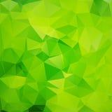 Fondo poligonale verde Fotografia Stock Libera da Diritti