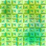 Fondo poligonale verde astratto Immagini Stock Libere da Diritti