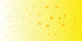 Fondo polivinílico bajo amarillo-naranja del vector Fotografía de archivo libre de regalías