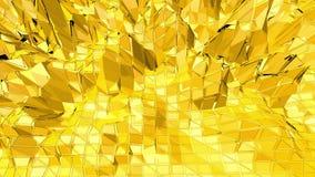 Fondo polivinílico bajo amarillo que oscila Superficie polivinílica baja abstracta como fondo agradable en diseño polivinílico ba metrajes