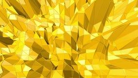 Fondo polivinílico bajo amarillo que oscila Superficie polivinílica baja abstracta como contexto digital en diseño polivinílico b almacen de video