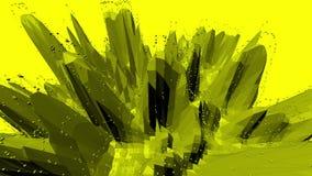 Fondo polivinílico bajo amarillo que oscila Superficie polivinílica baja abstracta como fondo de moda en diseño polivinílico bajo almacen de video