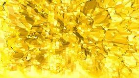 Fondo polivinílico bajo amarillo que oscila Superficie polivinílica baja abstracta como fondo del fractal en diseño polivinílico  metrajes