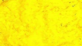 Fondo polivinílico bajo amarillo que oscila Superficie polivinílica baja abstracta como paisaje fantástico en diseño polivinílico almacen de video