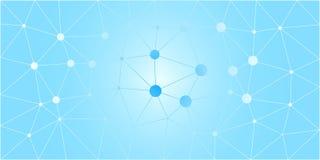 Fondo polivinílico bajo blanco azul del vector Fotos de archivo libres de regalías