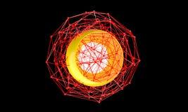 Fondo polivinílico bajo de la geometría Forma geométrica poligonal abstracta Fotos de archivo