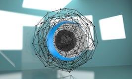 Fondo polivinílico bajo de la geometría Forma geométrica poligonal abstracta Imagenes de archivo