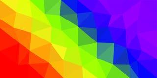 Fondo polivinílico bajo del vector de la bandera del arco iris libre illustration