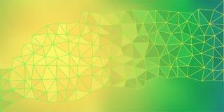 Fondo polivinílico bajo del vector del verde amarillo Imagenes de archivo