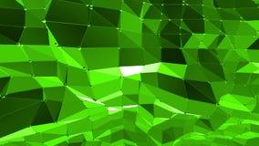 Fondo polivinílico bajo verde que pulsa Superficie polivinílica baja abstracta como fondo de la juventud en diseño polivinílico b stock de ilustración