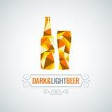 Fondo polivinílico del vector del diseño de la botella de cerveza Imagen de archivo libre de regalías