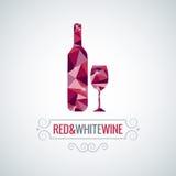 Fondo polivinílico del vector del diseño de la botella de vino Foto de archivo libre de regalías