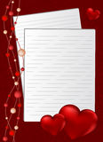 Fondo por el día de tarjeta del día de San Valentín Foto de archivo libre de regalías