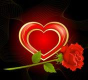 Fondo por el día de tarjeta del día de San Valentín Imagen de archivo