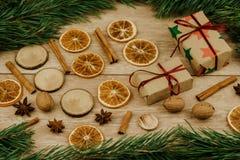 Fondo por la Navidad y el Año Nuevo imagen de archivo libre de regalías