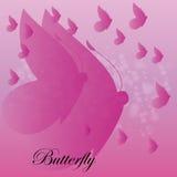 Fondo porpora astratto delle farfalle di vettore Immagine Stock Libera da Diritti